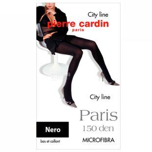 Pierre Cardin Paris, колготы женские черные, 2 размер, 150 ден