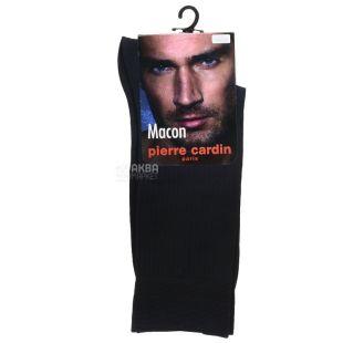Pierre Cardin Makon, носки мужские черные, размер 41-42
