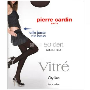 Pierre Cardin Vitre, black women's tights, 3 size, 50 den