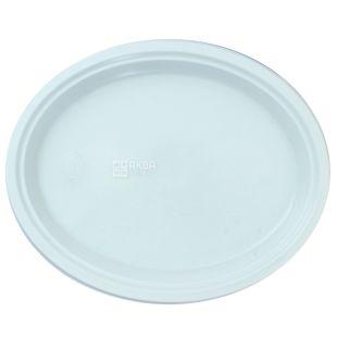 Тарелка овальная белая, 310 мм, 100 шт