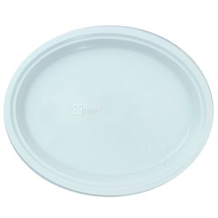 White oval plate, 310 mm, 100 pcs