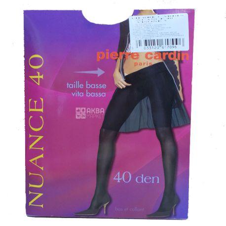 Pierre Cardin Nuance, Колготки женские серо-коричневые, 3 размер, 40 ден