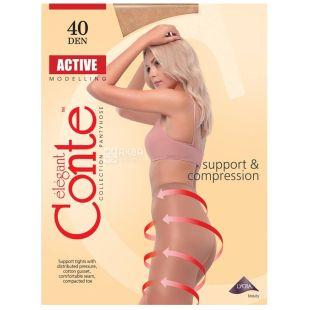 Conte Active Soft, Колготки жіночі тілесні, 3 розмір, 40 ден