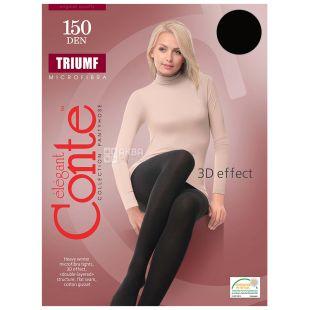 Conte Triumf Nero, Колготы женские черные, 3 размер, 150 ден