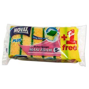 Novax Maxi Foam, Губки кухонні, 5+1 шт