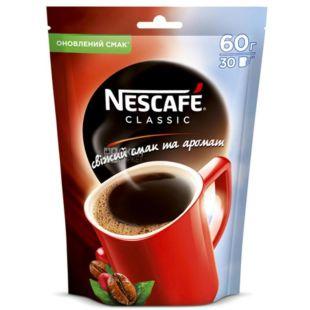 Nescafe Classic, 60 г, Кава Нескафе Классік, розчинний