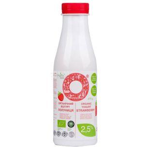Йогурт клубника, 2,5%, 470 г, ТМ Organic Milk