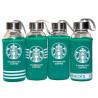 Термобутылка в чехле, 420 мл, стекло, ТМ Olens Starbucks