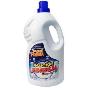 Pure Fresh Universal, Рідкий гель-концентрат для прання, 4 л