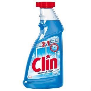 Clin Сrystal, Средство мытья для окон, универсальное, запаска, 500 мл