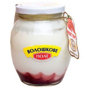 Волошкове поле, Йогурт десертный клубника, 2,8%, 350 г