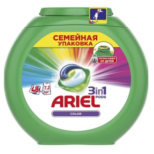 Ariel Pods Color capsules for washing 48 pcs., 7.2 kg