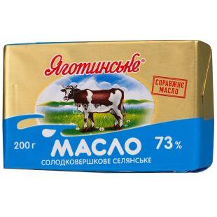 Яготинское,Масло сливочное, селянское, 73%, 200 г