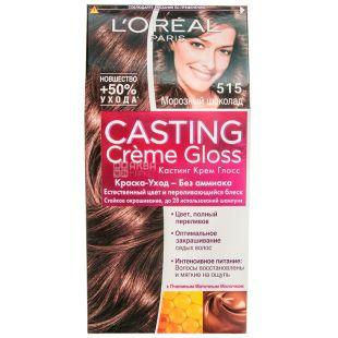 L'Oreal Casting Creme Gloss Морозный шоколад, Краска для волос, тон 515, 50 мл