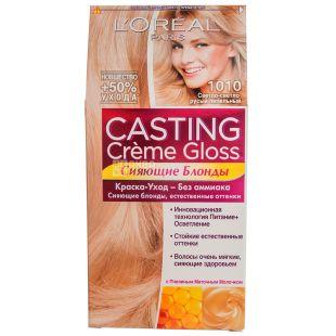 L'Oreal Casting Creme Gloss Светло-светло русый пепельный, Краска для волос, тон 1010, 50 мл