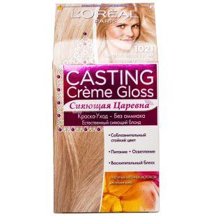 L'Oreal Casting Loreal, Краска для волос, Светло-светло-русый перламутровый, 1021