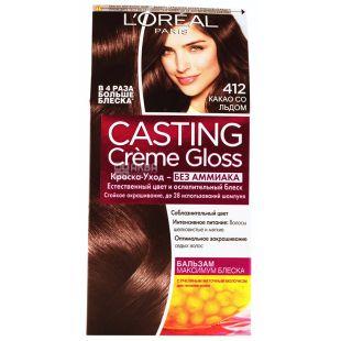 L'Oreal Casting Loreal, Краска для волос, Какао со льдом, 412