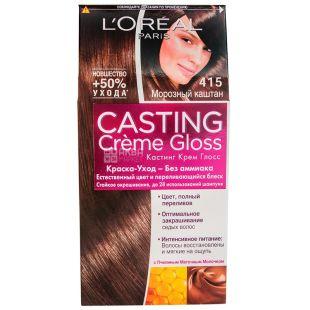 L'Oreal Paris CASTING Creme Gloss, Краска для волос, Тон 415, Морозный каштан, 160 мл