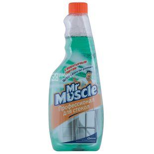 Mr. Muscle, Средство для мытья стекол, с нашатырным спиртом, запасной флакон, 500 мл