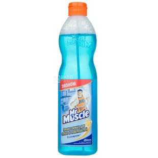 Mr. Muscle, Средство для мытья стекол, со спиртом, запасной флакон, 500 мл