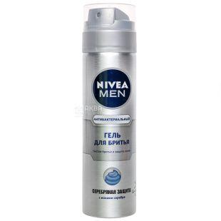 Nivea Men Срібний захист, Гель для гоління, 200 мл