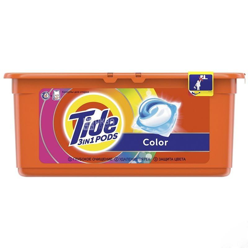 Tide Color, Гель жидкий в растворимых капсулах, 30*24,8 г