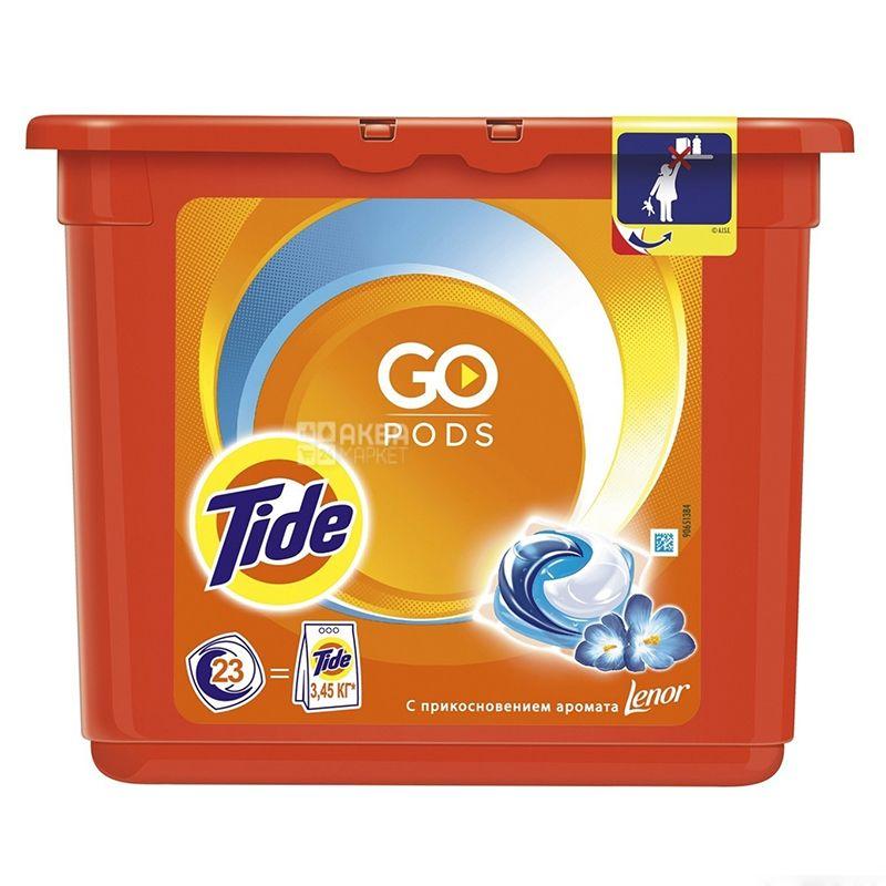 Tide, Капсули для прання, З дотиком аромату Lenor, 23х25,2 г