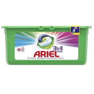 Ariel Color, Liquid gel in soluble capsules, 30 * 27 g