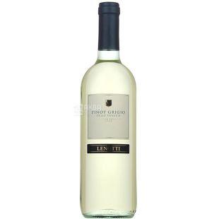 Вино белое полусухое, 12,5%, 0,75 л, ТМ Lenotti Pinot Grigio Delle Venezie