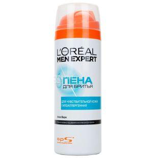 L'oreal Men Expert Система захисту шкіри, Піна для гоління для чутливої шкіри, 200 мл