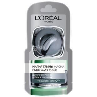 L'Oreal Paris Skin Expert, Очищающая маска с натуральной глиной и углем, 6 мл