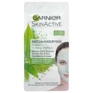 Garnier Skin Active, Очищающая маска для лица с экстрактом зелёного чая и глины, 8 мл