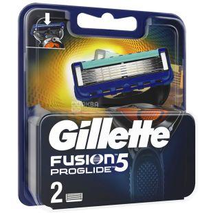 Gillette Fusion5 ProGlide, Змінні картриджі для гоління, 2 шт.