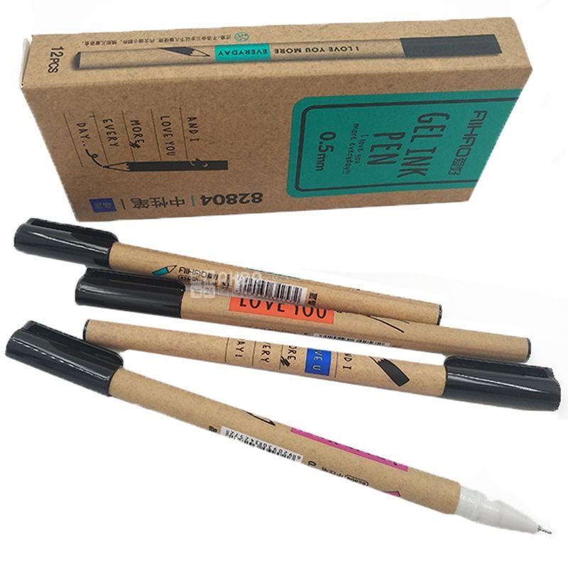 Aihao, Ручка гелевая синяя 0,5 мм, 12 шт