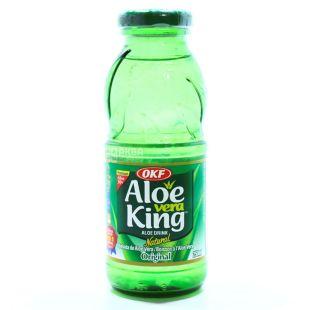 OKF Aloe Vera King Original, Aloe juice drink, non-carbonated, 250 ml, glass