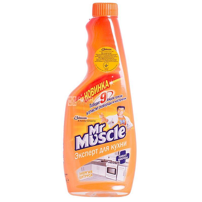 Mr. Muscle Експерт, Засіб для кухні, Енергія цитруса, запаска, 450 мл