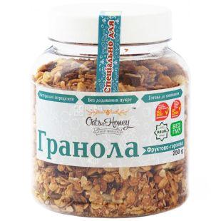 Oats&Honey, 250 г, Гранола Оэтс энд Хани, мед, овсяные хлопья, грецкий орех, миндаль, арахис, фундук