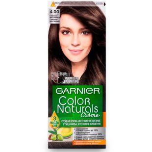 Garnier Color Naturals, Краска для волос, Тон 4.00 Глубокий темно-каштановый