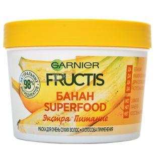Garnier Fructis Superfood Банан, Маска для волос, Экстра питание для очень сухих волос, 390 мл