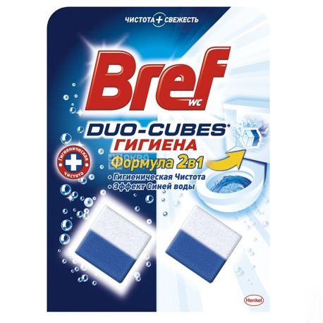 Bref Duo-Cubes Гігієна, Очищуючі кубики для унітазу, 2 шт. по 50 г