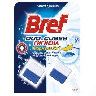 Bref Duo-Cubes Гигиена, Чистящие кубики для унитаза, 2 шт. по 50 г