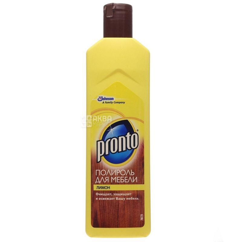 Pronto, Лимон, 300 мл, Полироль для мебели