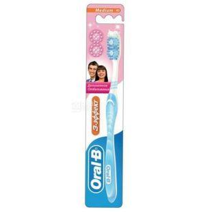 Oral-B, 3-Effect, Зубна щітка середнього розміру, Делікатне вибілювання, 1 шт