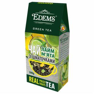 Edems, Лайм и мята,100 г,  Чай Эдемс, зеленый