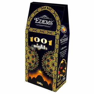 Edems, 1001 Nights,100 г, Чай Эдемс, 1001 Ночь, зеленый с кусочками фруктов