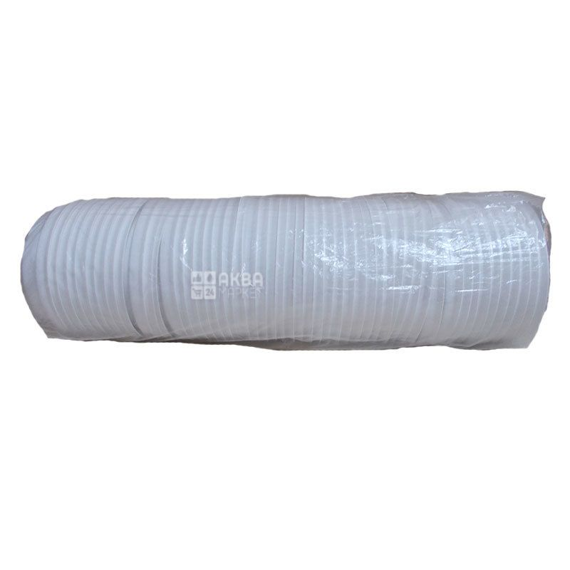 Кришка для одноразового стакана 180 мл, Біла, 50 шт, D73