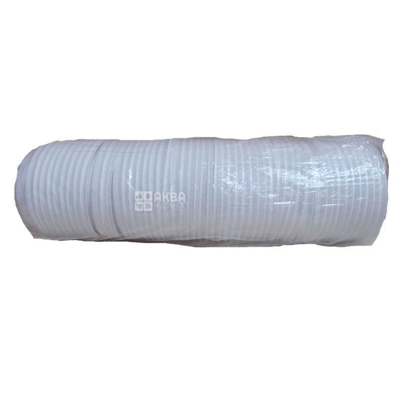 Крышка для одноразового стакана 180 мл, Белая, 50 шт, D73
