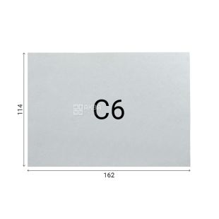 Envelope C6 (114х162 mm) white with an address grid of 100 pcs., Without tearing tape