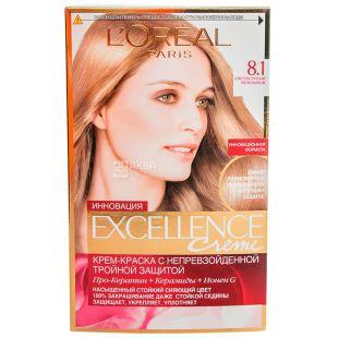L'Oreal Exellence Creme, Светло-русый пепельный, Краска для волос, тон 8.1
