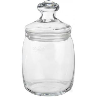 Bank with a lid, Glass, 940 ml, TM Cesni